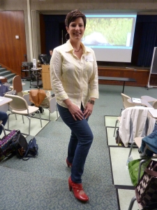 RCRW Chapter mate Gina Fluharty rockin' the red shoes!