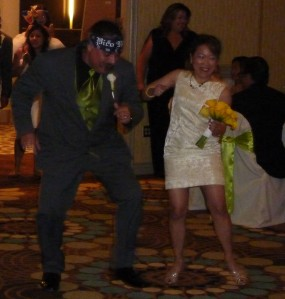Me and Art rockin' the moves!  Note to Uncles: Patron was not involved.  :-)
