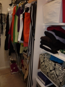 Part of the closet - specifically, the side I don't have to share!
