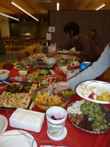 Our buffet table - NOM!