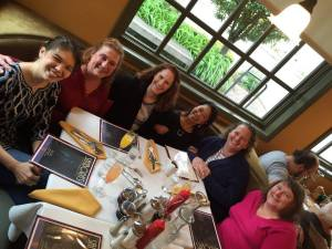 Authors Kristina McMorris, Terri Patrick, Terri Reed, Melia Alexander, Jenna Bayley-Burke, and Maggie Lynch